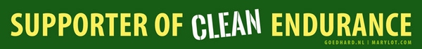 Supporter of clean endurance