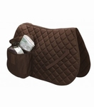 Cotton saddlecloth with saddlebag