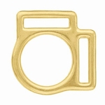 2 loop square (brass)