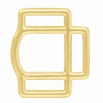 3 loop square (brass)