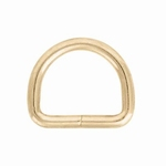 D-Ring (brass, large, 16 mm)